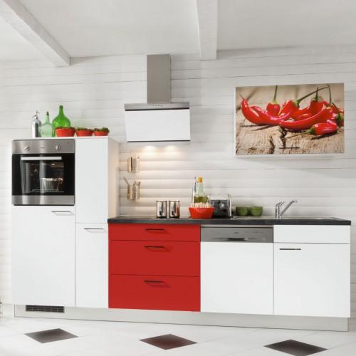 Moderne Kuchenzeile Komplett Mit Elektrogerate 290 Cm Stellmass