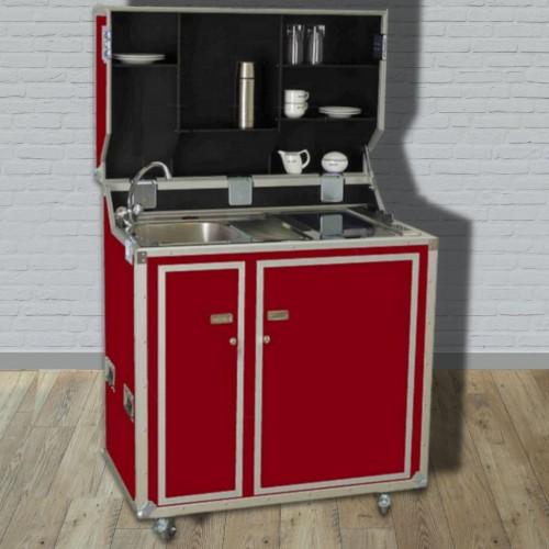 Kitcase Pro Art Kofferkuche Rot Matt Die Mobile Kuche Im