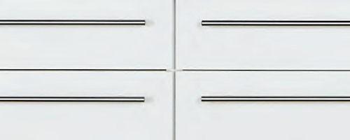 schubladenfront ansicht  Unterschrank mit 1 Schubkasten und 2 Auszüge Front Fugenbild