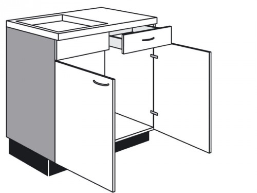 Spülen-Unterschrank mit Schublade