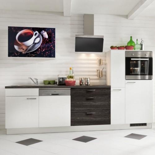 Moderner Kuchenblock Mit Elektrogerate 290 Cm Stellmass