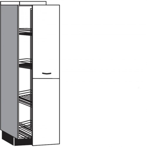 Highboard Apothekerschrank Diagonal Mit 1 Auszug Bestehend Aus 2 Fronten