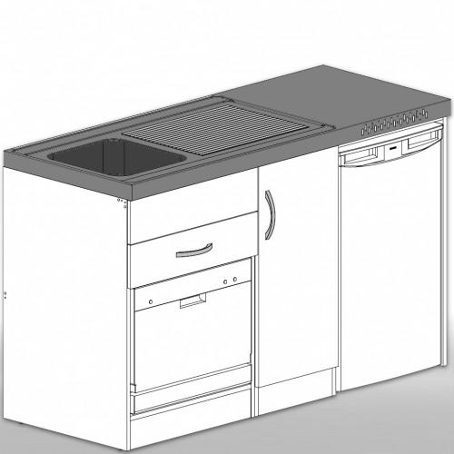 Singlekuche Mit Kompakter Spulmaschine Und Kuhlschrank A