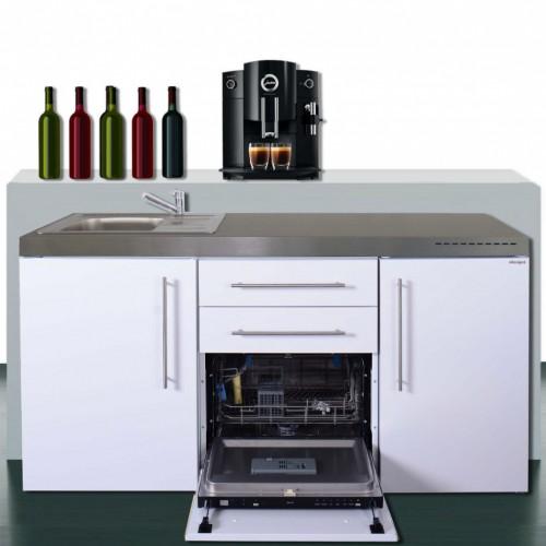 Pantryküchen Büroküchen 170 Cm Breit Mit Geschirrspüler Und Kühlschrank A++