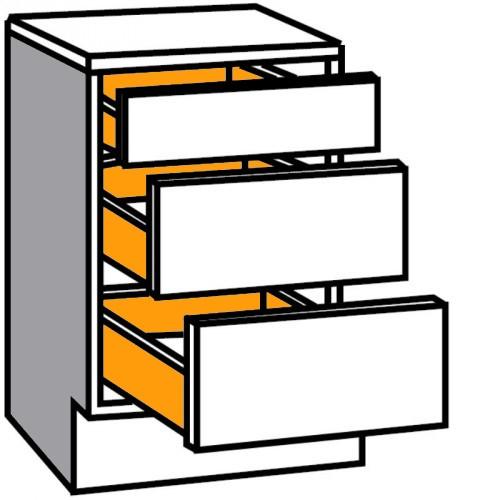 Auszug Unterschrank Komfort Mit 1 Schublade Und 2 Auszügen
