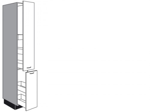 Apothekerschrank mit Auszügen 9 mm Höhe