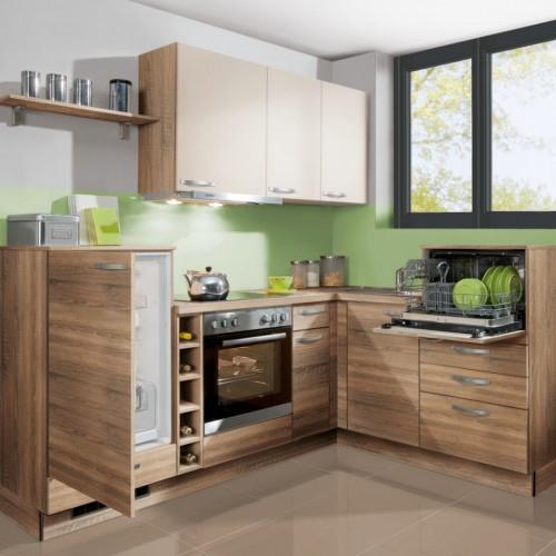 Basis L-Küche mit Elektrogeräte 175x230 cm Stellmass