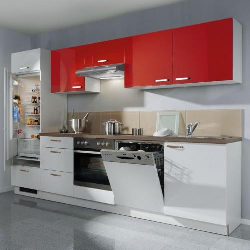 Küchenzeile Komplett Mit Elektrogeräte 300 Cm Stellmass