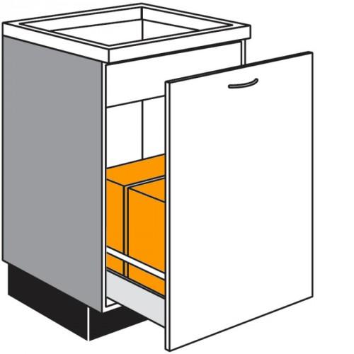 Gut gemocht Spülen-Unterschrank mit Abfalleimern zur Mülltrennung EN01