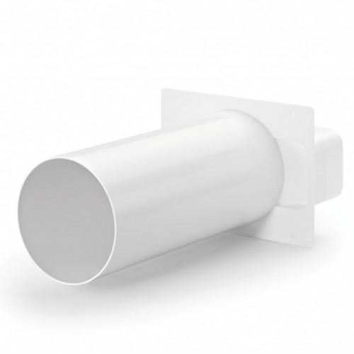 rund Rohranschluss /Ø 80mm Edelstahl Ablufthaube