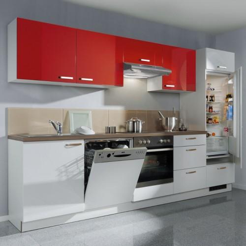 Küchenzeile Mit Elektrogeräte 300 Cm Stellmass