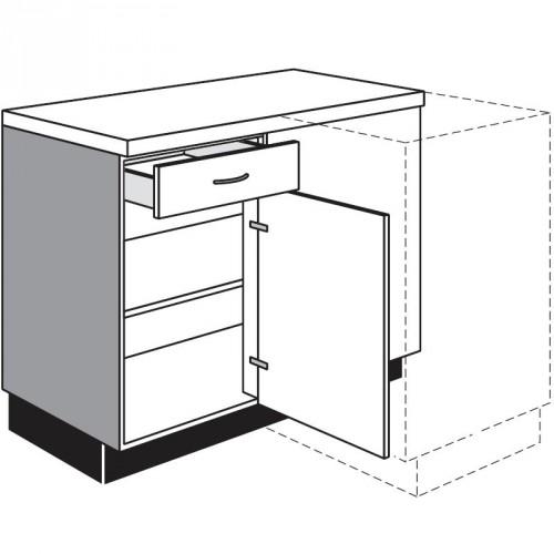kuche eck unterschrank. Black Bedroom Furniture Sets. Home Design Ideas