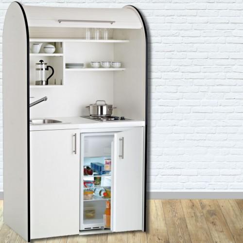colorLINE pro-art Schrankküche Weiß, Grau, Anthrazit