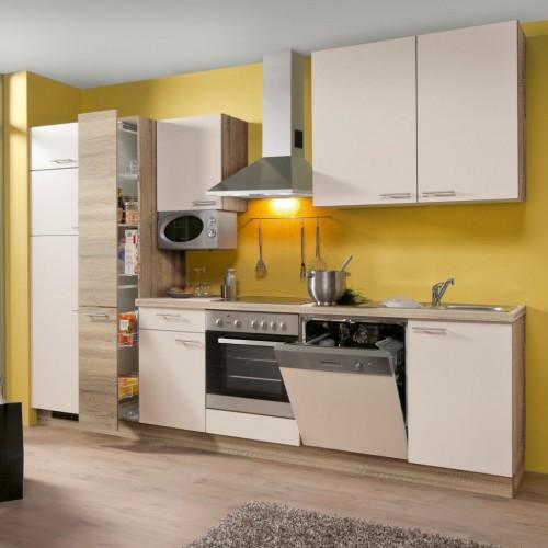 k chenzeile im landhausstil mit elektroger ten 310 cm. Black Bedroom Furniture Sets. Home Design Ideas