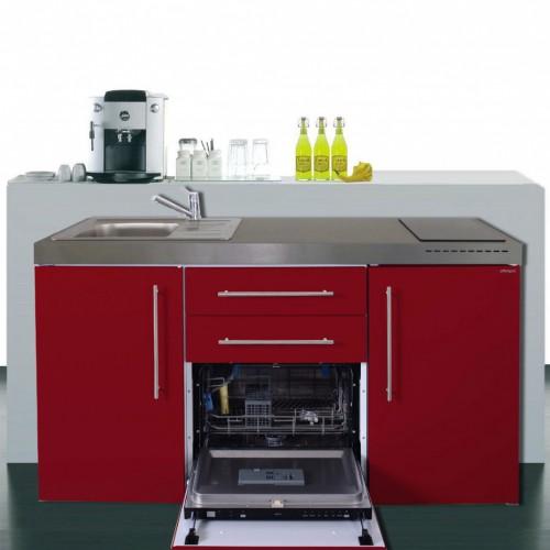 Miniküche Mit Geschirrspüler Und Kühlschrank A 160 Cm Breit