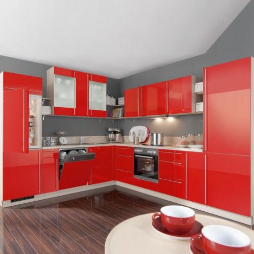 Große L-Küche komplett mit Elektrogeräte 275x315 cm