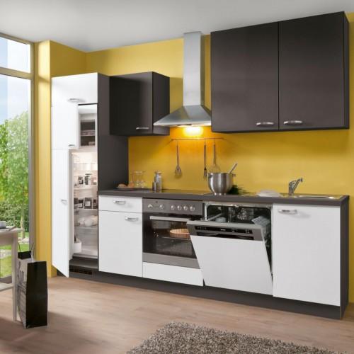 Einbau-Küche komplett mit Elektrogeräte 280 cm Stellmass