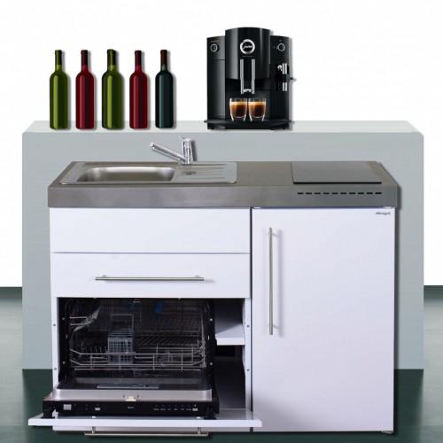 Fabulous Kompaktküche 120 cm breit mit Geschirrspüler und Kühlschrank A++ UA08