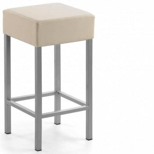 Inwerk Küchen 2 Stück Tresenhocker Metall / Gestell in Silber / Sitzhöhe 64 cm ...