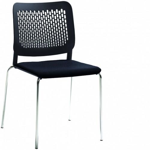 Stapelstuhl mySittec mit Sitzpolsterung