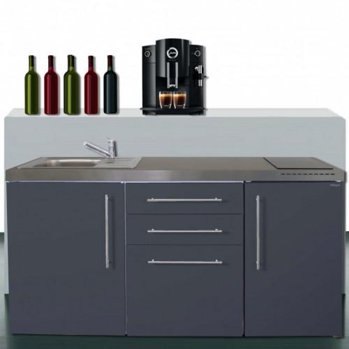 Pantryküchen Büroküchen 170 cm breit mit Kühlschrank A++