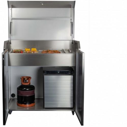 Duplex Outdoor-Küche mit Gas-Grillfeld