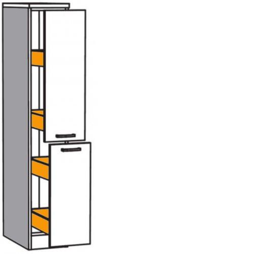 Apothekerschrank Mit 4 Metall Auszugen Je 24 Kg Belastbar