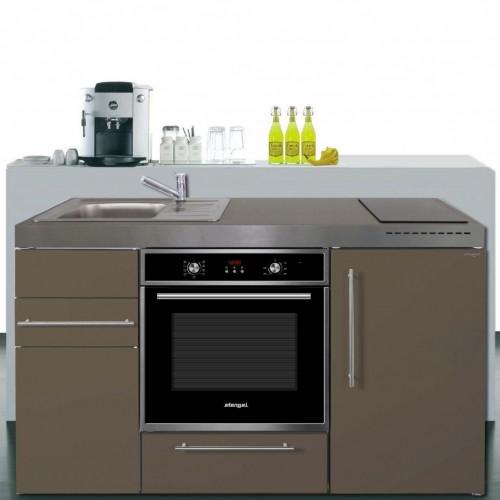 Kompaktküche 10 cm breit mit Backofen und Kühlschrank A++