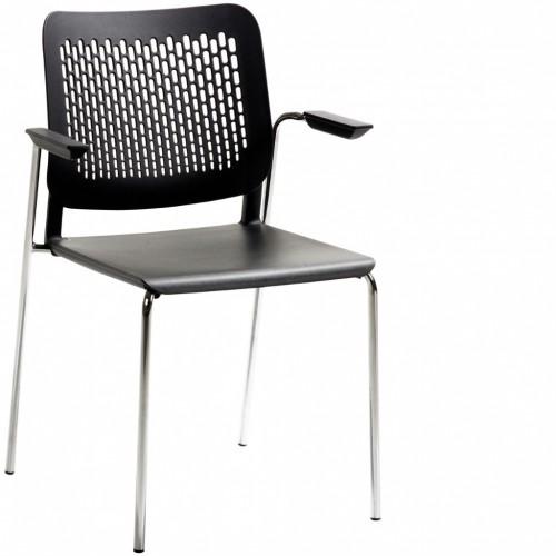 Stapelstuhl mySittec Sitz und Rücken Kunststoff