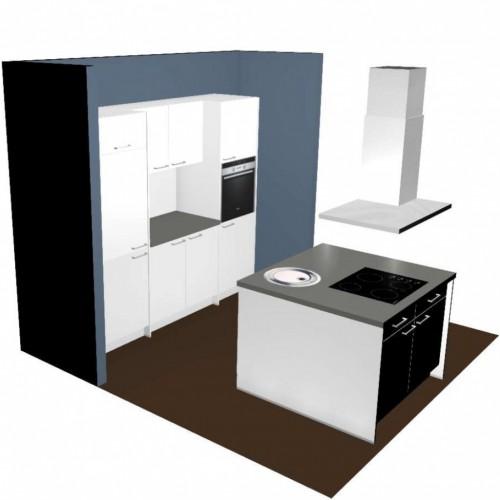 Küche Mit Kochinsel Und Elektrogeräte