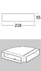 COMPAIR® top System 125 flach T-VRO 1000 Breitkanal Lüftungsrohr ohne Muffe